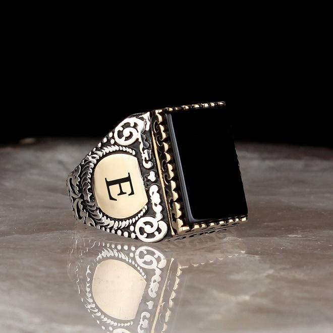 Авторское серебряное кольцо, перстень, печатка