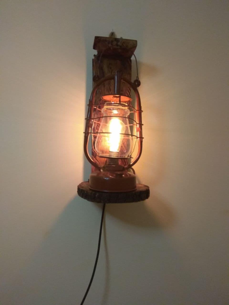 Лофт гасова лампа настіна